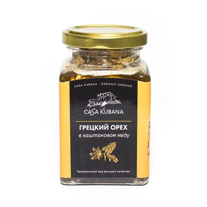 Грецкий орех в каштановом меду Casa Kubana, 290 г