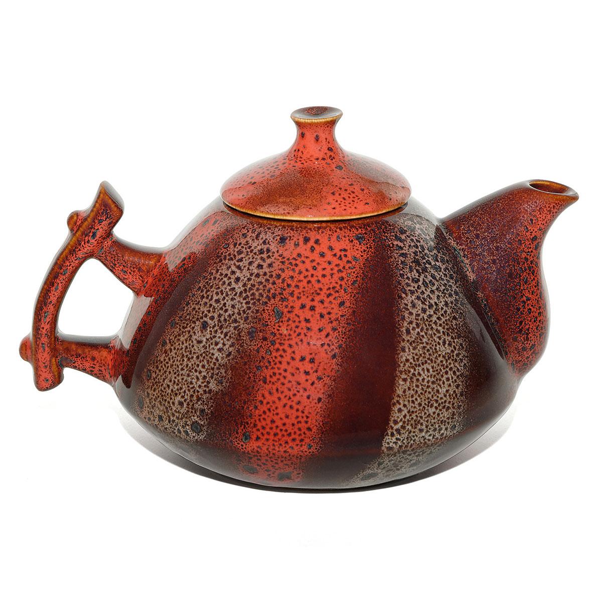 Чайник глиняный Малиновый щербет, 800 мл