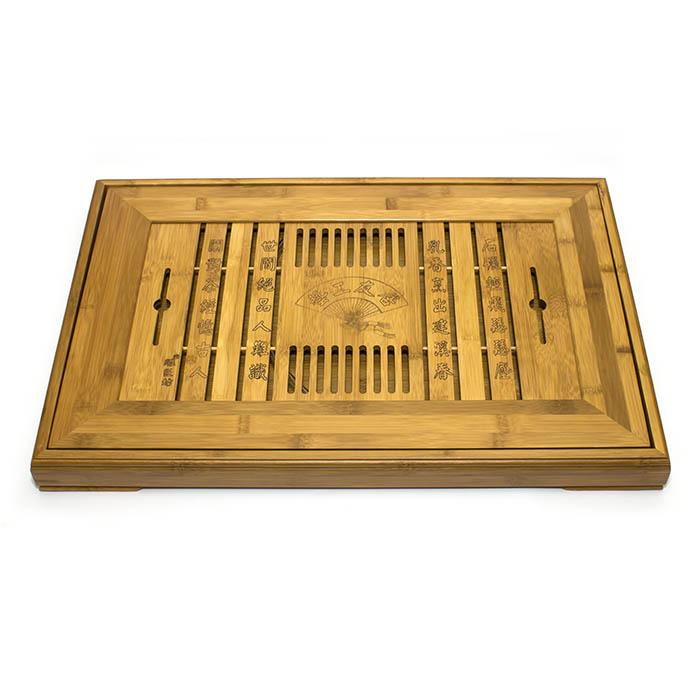 Чайный поднос (Чабань) из бамбука 59,5x39,5x5 см