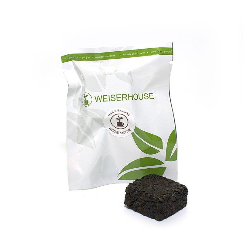 Черный чай с вишней прессованный в кубиках (5-7 гр.) в инд. упак.
