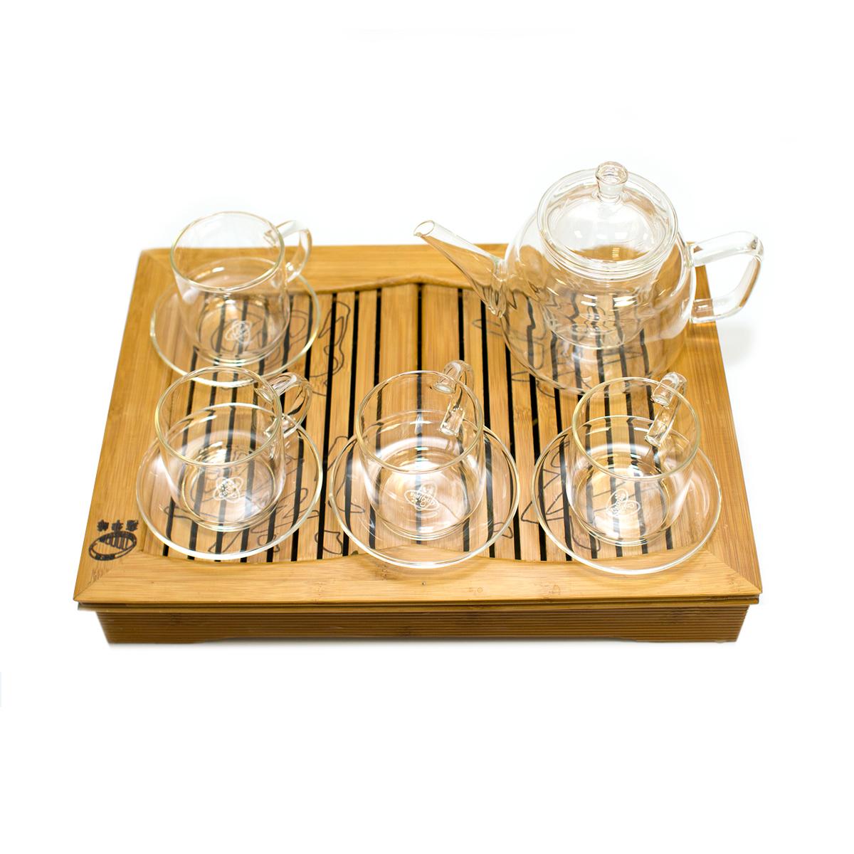 Подарочный набор заварочный чайник и 4 чайные пары weleda антицеллюлитный набор идеальная пара 1 шт