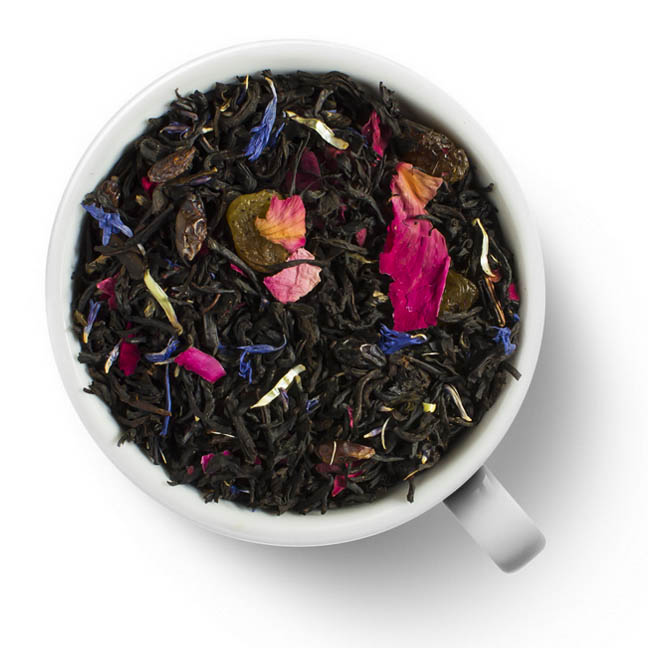 Черный ароматизированный чай Виноградное утро