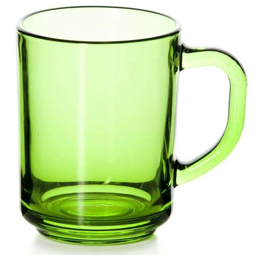 Стеклянная кружка Enjoy зеленая, 250 мл кружка стеклянная с пластиковой соломинкой je peux pas 450 мл