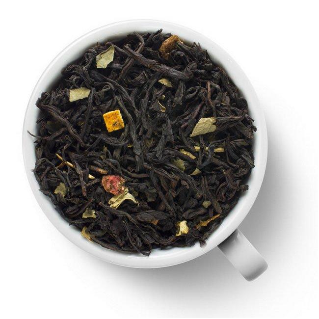 Черный ароматизированный чай Клубника – Апельсин