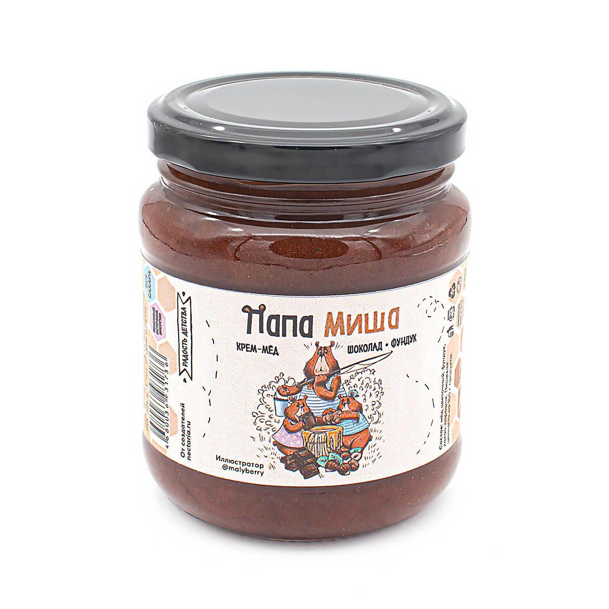 Крем-мёд Папа Миша Шоколад-фундук, 260 г дикий мёд