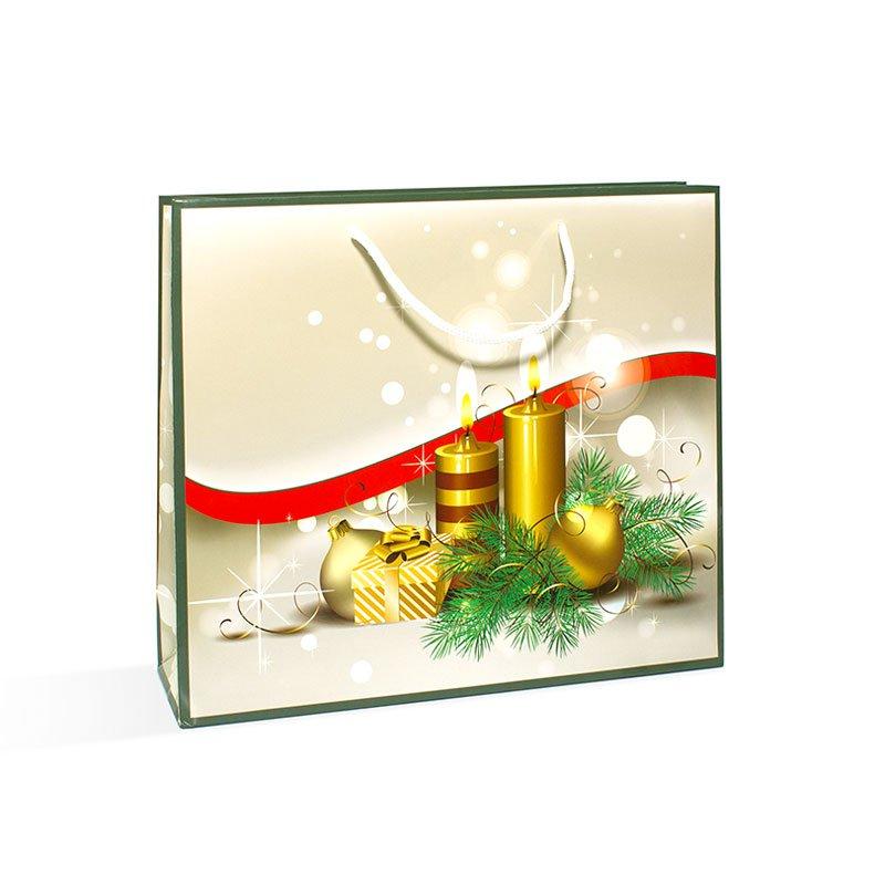 Пакет подарочный новогодний Торжество ящик деревянный подарочный без крышки антик 33 х 24 5 х 10 см