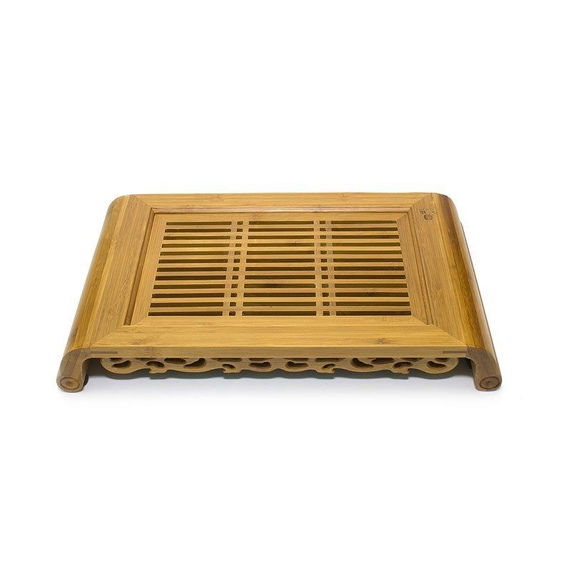 """Чайный поднос (Чабань) из бамбука """"Ку мин"""" 40х28х6,5 см"""