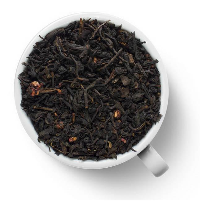 Черный ароматизированный чай Йогурт с малиной