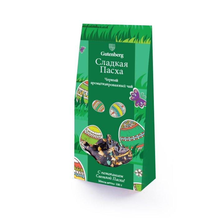 Черный ароматизированный чай Сладкая Пасха, уп. 100 г