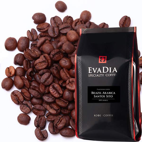 Кофе в зернах EvaDia Бразилия Арабика сантос Сито, 250 г