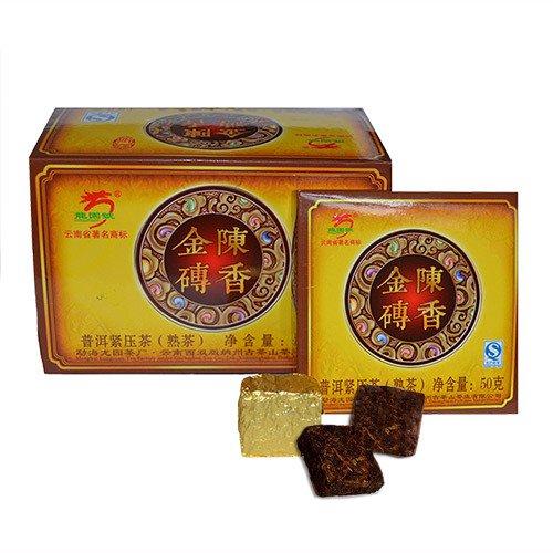 Золотой Шу Пуэр, 2008 г., прессованный, упак. 400 гр.