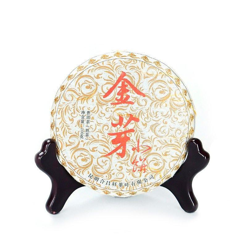 Шу пуэр Цзинь Шань Сяо Пин, 2013 г, 100 гр. цветы сливы в золотой вазе или цзинь пин мэй