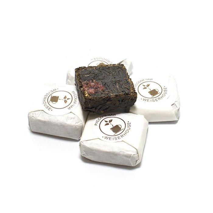 Черный ароматизированный чай Русский чай прессованный, упак. 5 шт.