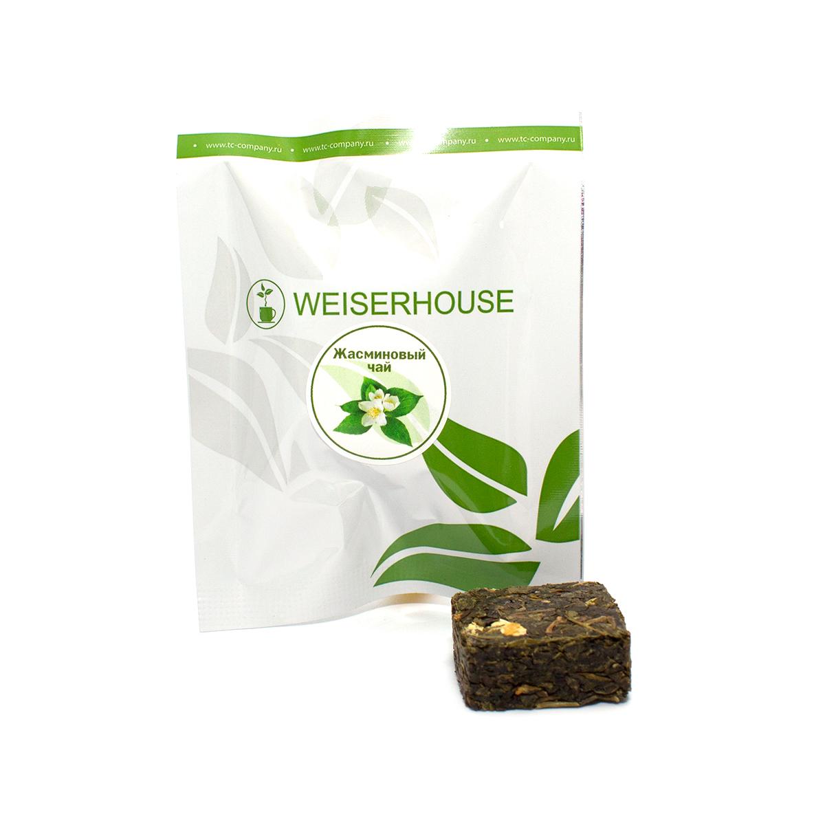 Чай зеленый Жасминовый прессованный в кубиках (5-7 гр.) в инд. упак. цены онлайн
