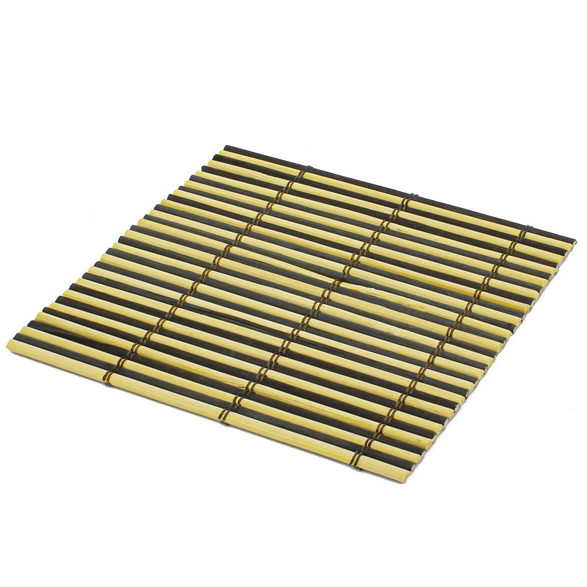 Набор чайных циновок (бамбук) чёрные двухцветные 10 х 10 см 5 шт/упак.