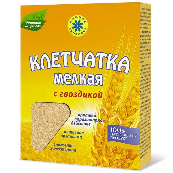 Клетчатка пшеничная мелкая с гвоздикой, 200 г от 101 Чай