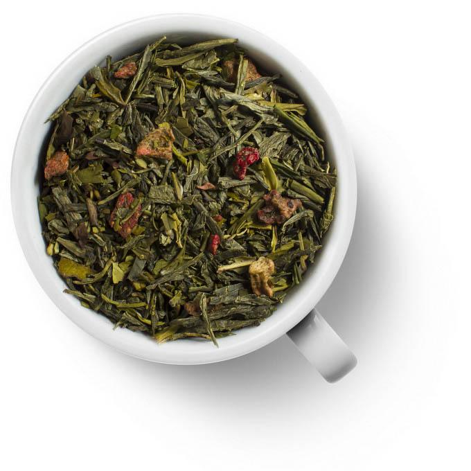 Зеленый ароматизированный чай Земляника со сливками