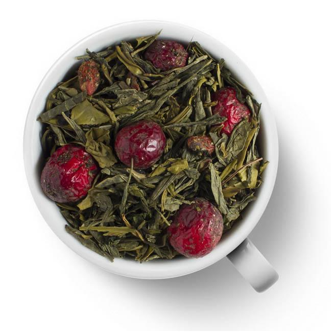 Зеленый ароматизированный чай Клюква и Годжи