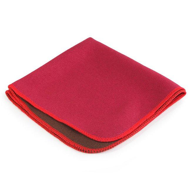 """Полотенце для чайной церемонии """"Минима красная"""" 28 х 28 см (двухцветное)"""