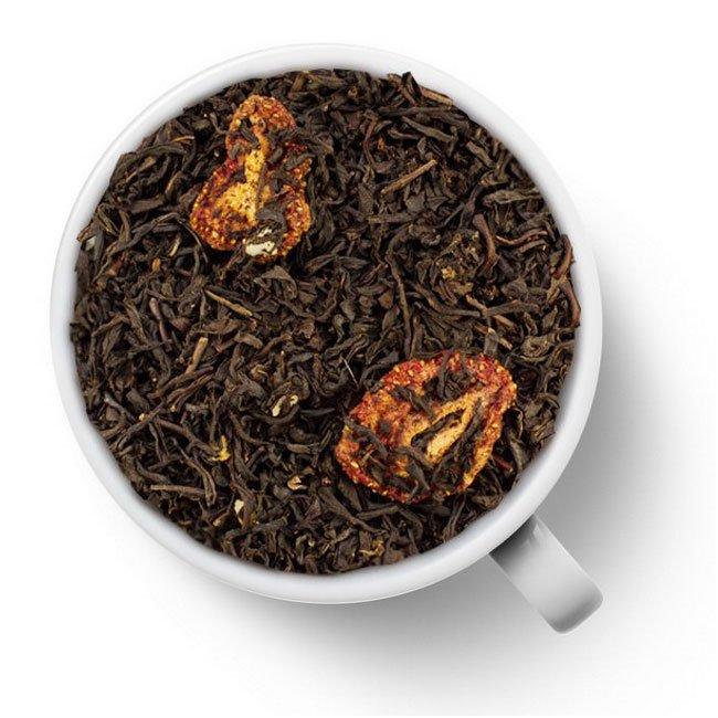 """Черный ароматизированный чай """"Со вкусом клубничного зефира"""""""