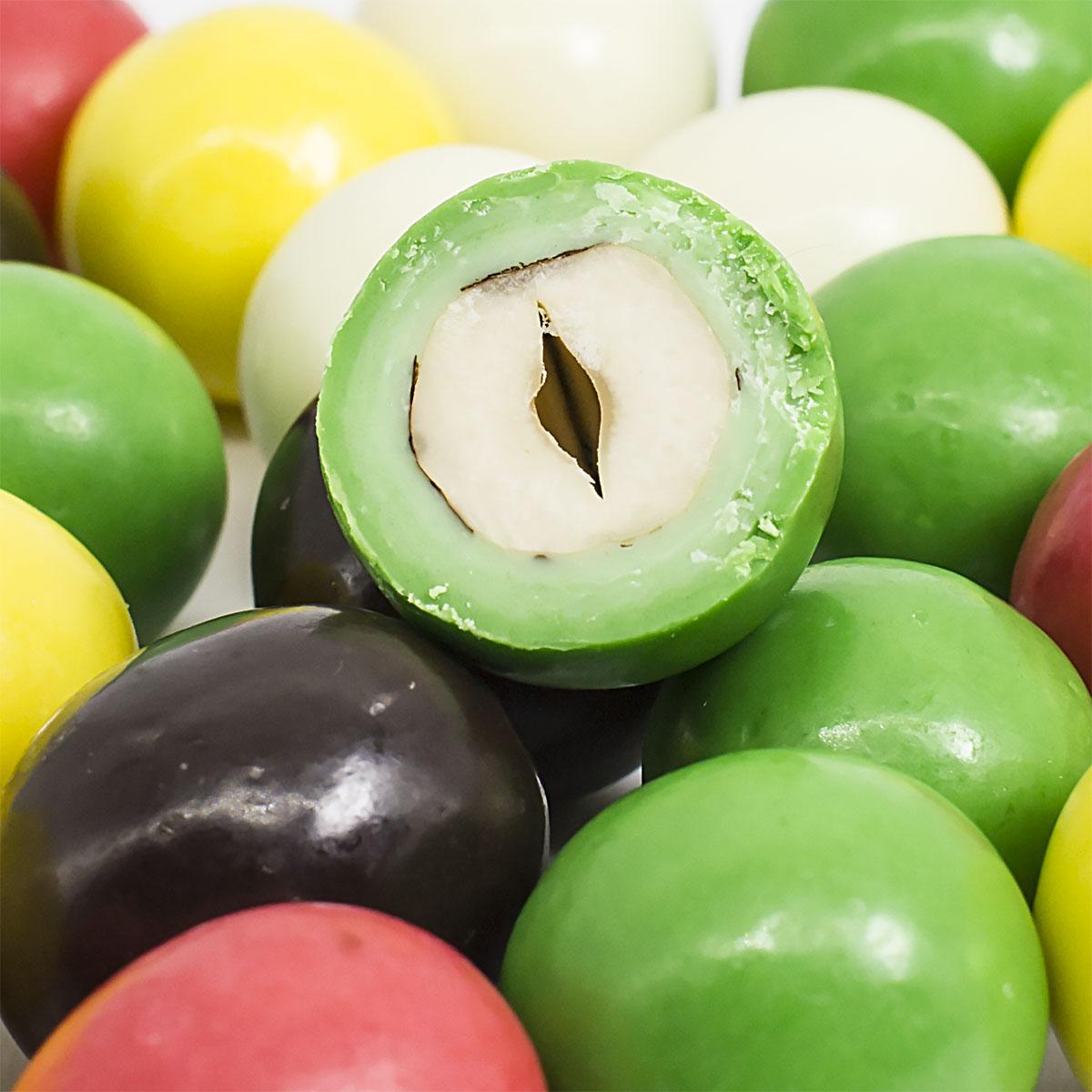 Фундук в цветной глазури пирожное маршмеллоу sweet plus zeffo в какао молочной глазури 150 г