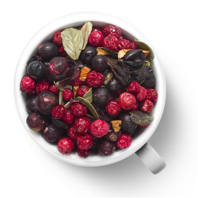 Фруктовый чай Смородиновый с брусничным листом