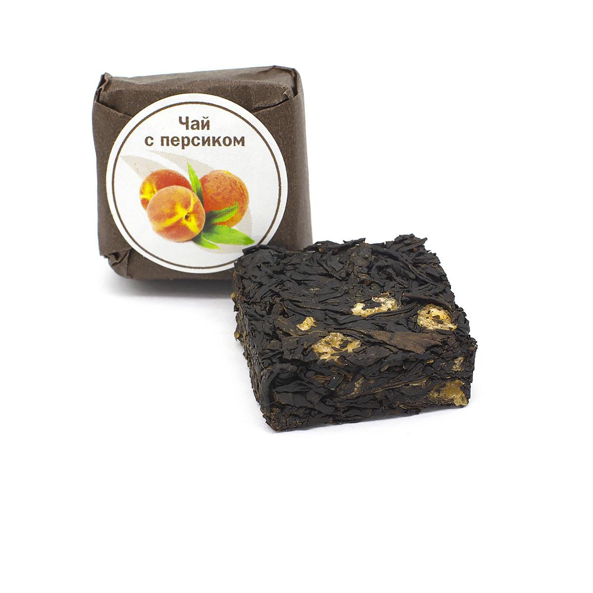 Чай с персиком прессованный, кубик 5-7 г dress 9787