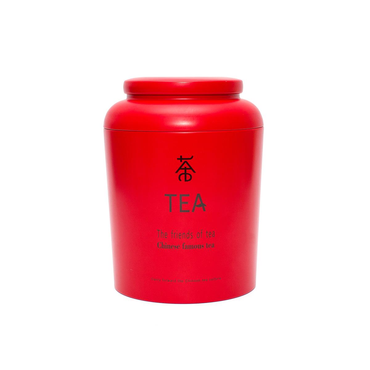 Банка для хранения чая Евразия, красная