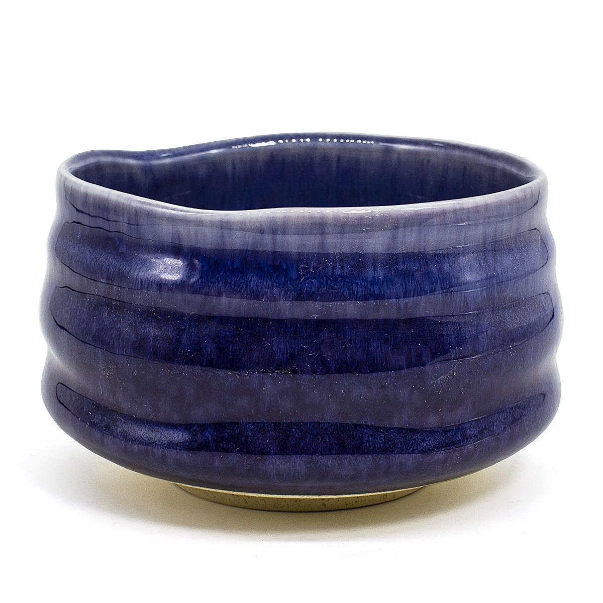 Чаша для матча керамическая, синяя, 500 мл чаша для матча керамическая голубая 500 мл