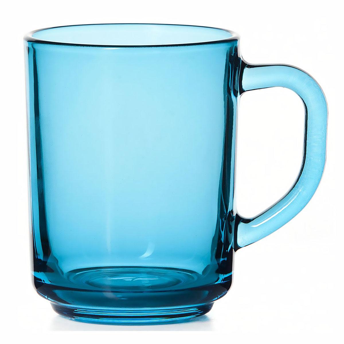 Стеклянная кружка Enjoy голубая, 250 мл кружка стеклянная с пластиковой соломинкой je peux pas 450 мл