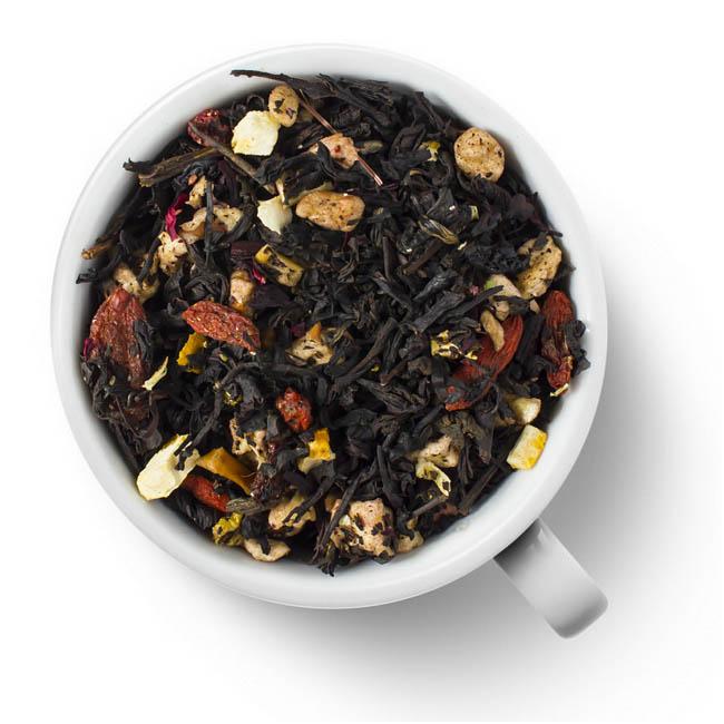 Черный ароматизированный чай Premium Апельсин и Годжи