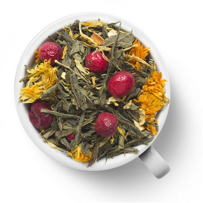 Зеленый ароматизированный чай Дикий лимон