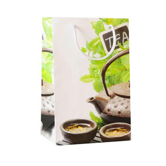 Пакет подарочный Чайная мята, 23*15 см домик для животных уют fashion цвет шоколад бежевая клетка 37 х 35 х 37 см