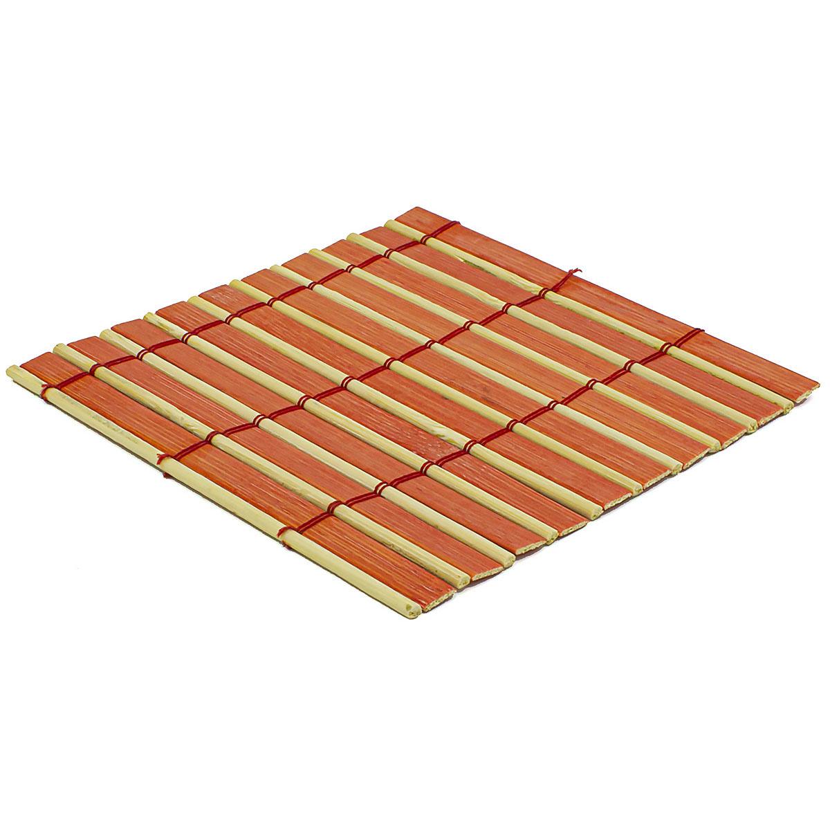 Набор чайных циновок (бамбук), красные двухцветные, 10 х 10 см, 5 шт/упак набор чайных циновок бамбук красные двухцветные 10 х 10 см 5 шт упак