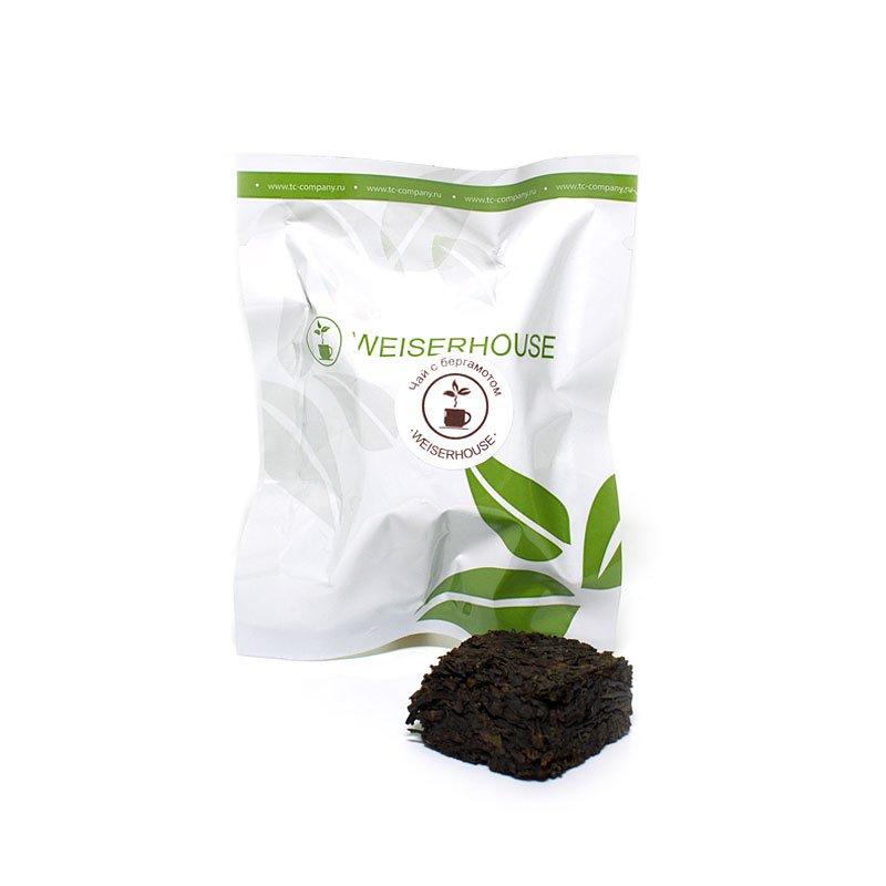 Чай черный с бергамотом, прессованный в кубиках (5-7 гр.) в инд. упак.