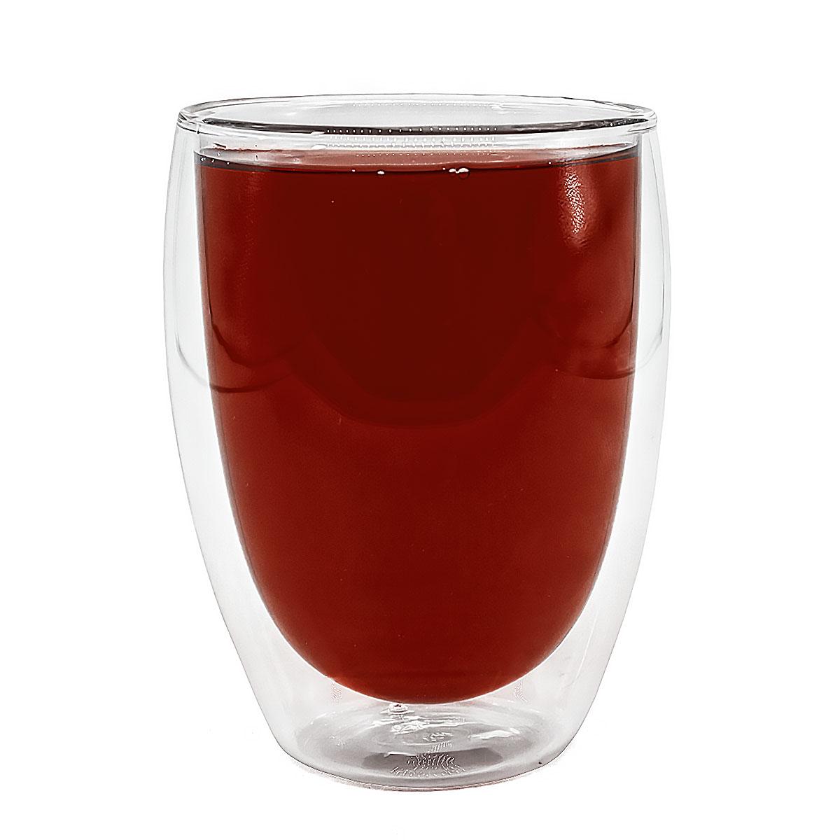 Стеклянный стакан с двойными стенками, 350 мл