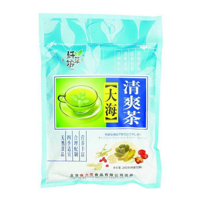 Зеленый ароматизированный чай Ба Бао Ча (Восемь сокровищ), с паньдаха 240гр.