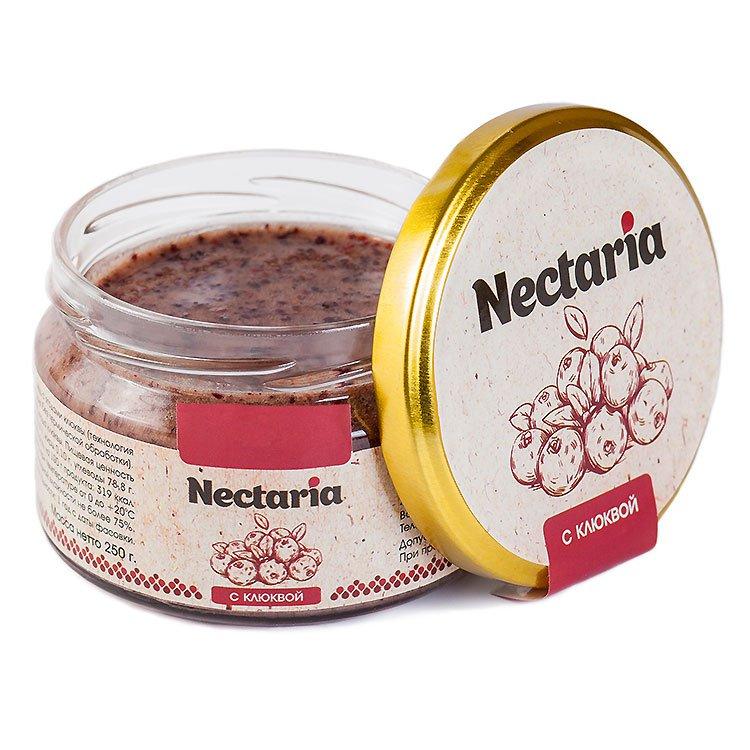 Крем-мёд Nectaria с клюквой, 250 г