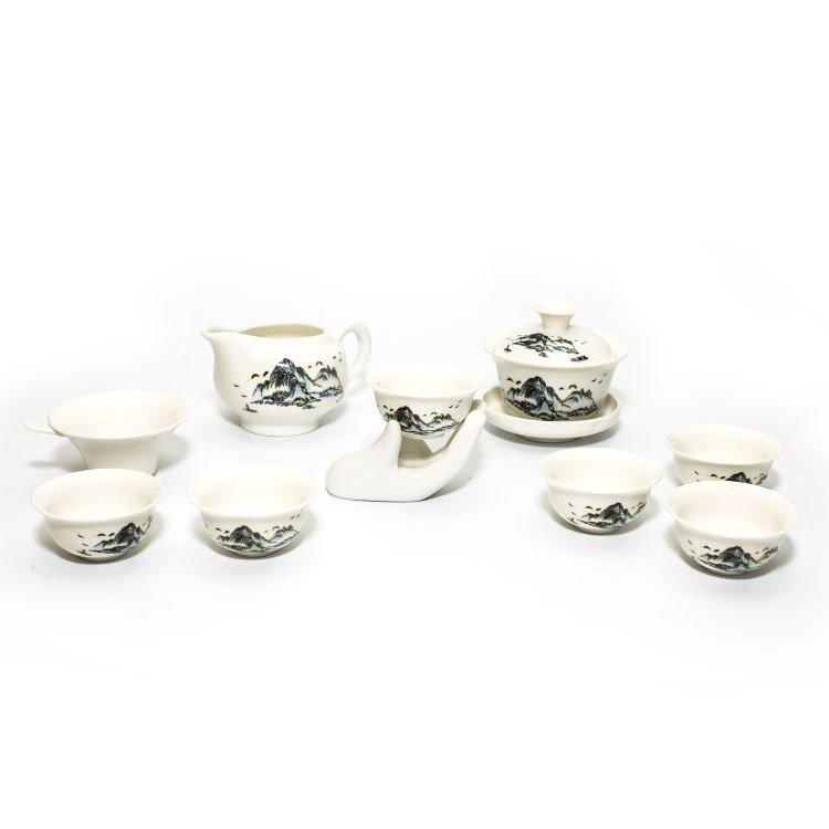 """Чайный набор """"Тао Шань"""" (фарфор) (10 предметов)"""
