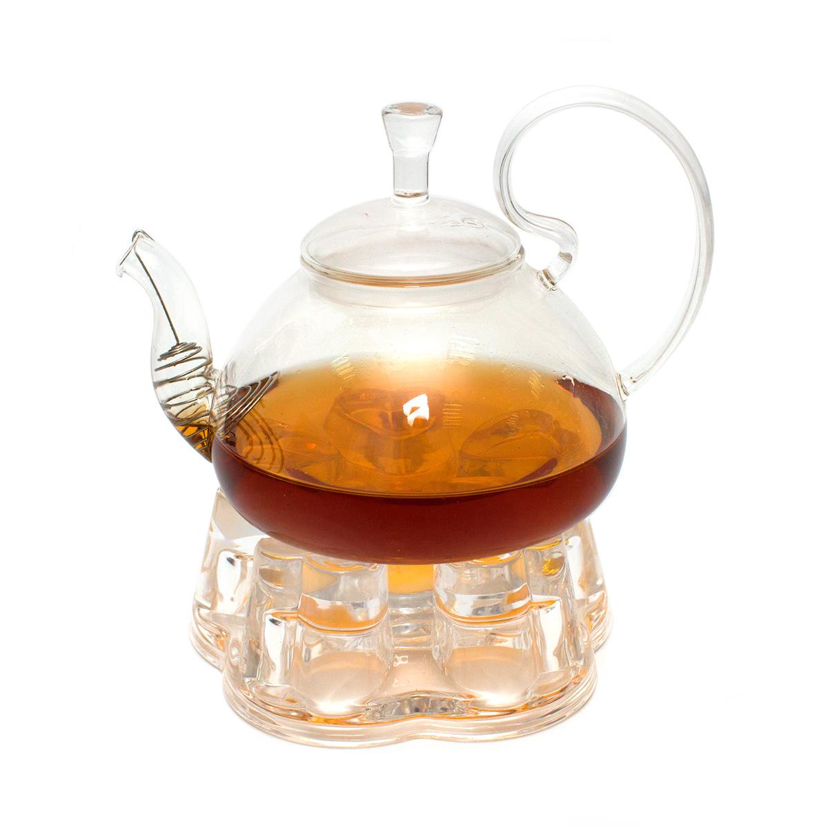 Набор: чайник Клюква 800 мл и подставка-подогреватель Агава