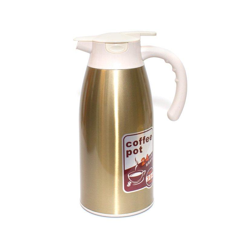 Термос металлический для кофе и чая (бронзовый), 2000 мл от 101 Чай
