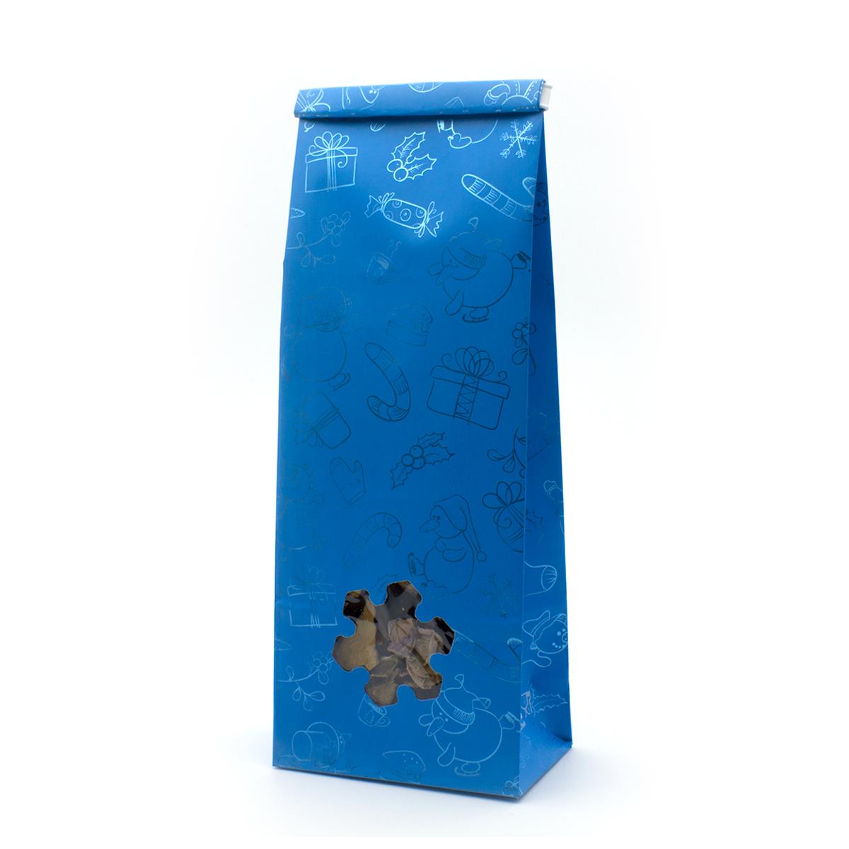 Пакет для чая 250 гр Новогодний сюрприз (22,5 х 8 см)