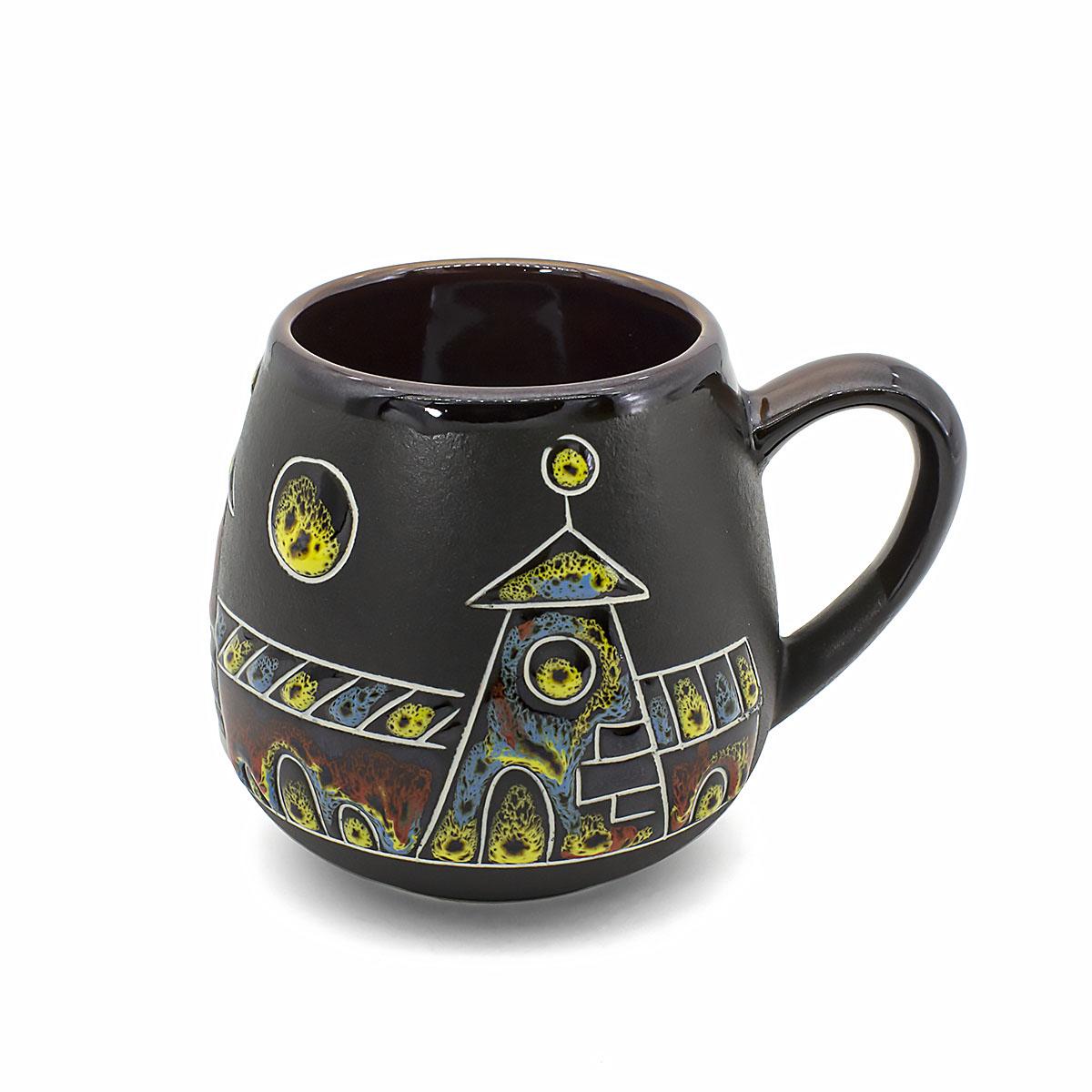 чашка глиняная малиновый щербет 350 мл Чашка глиняная Город, 350 мл