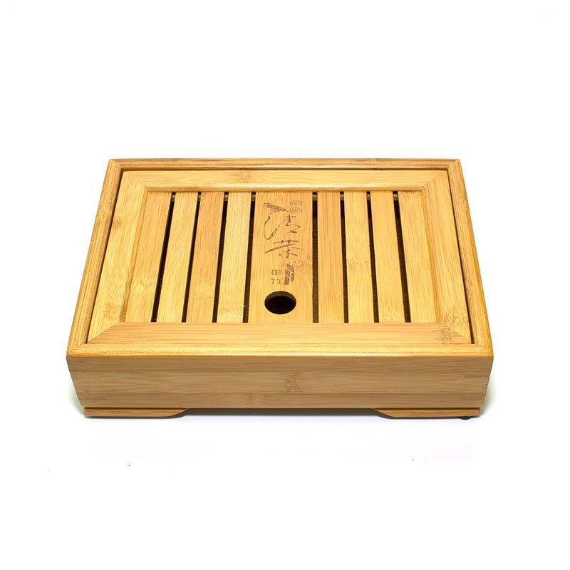 Чайный поднос (Чабань) бамбуковый  27x18,5x6 см