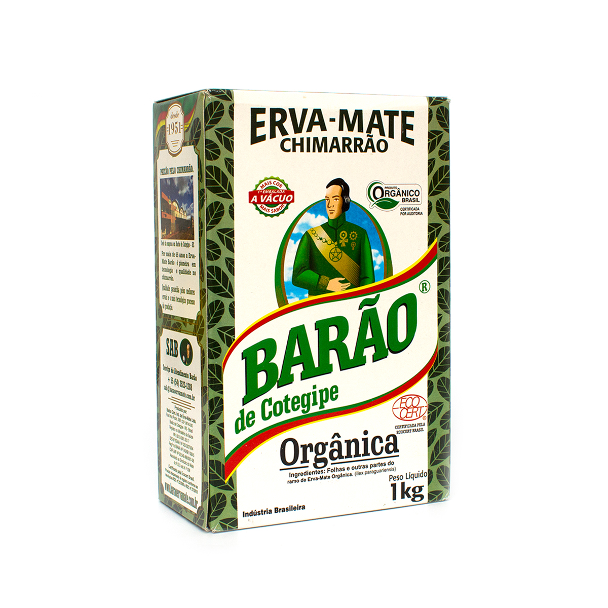 Мате Barao De Cotegipe Organica, 1000 г мате pipore especial 1000 г