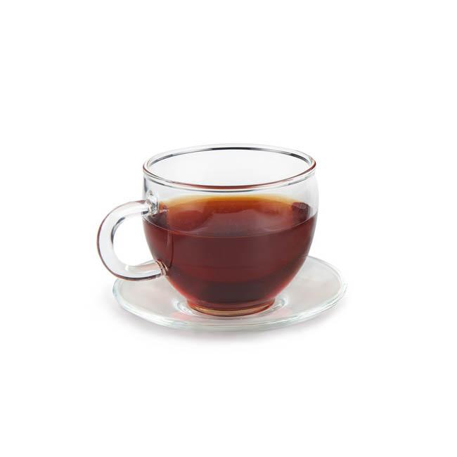 Чайная пара из жаропрочного стекла, 120 мл