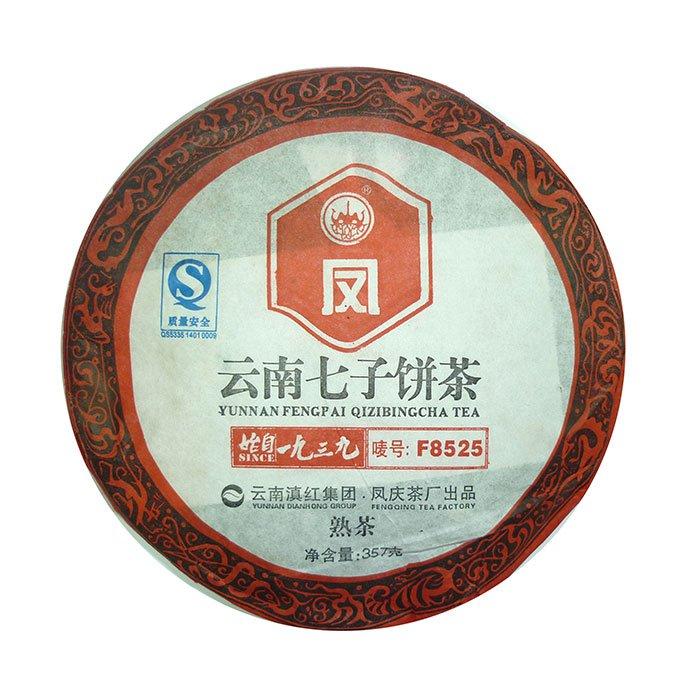 Купить со скидкой Шу Пуэр, фабрика Фэн Цин, 2011 г., блин, 357 г