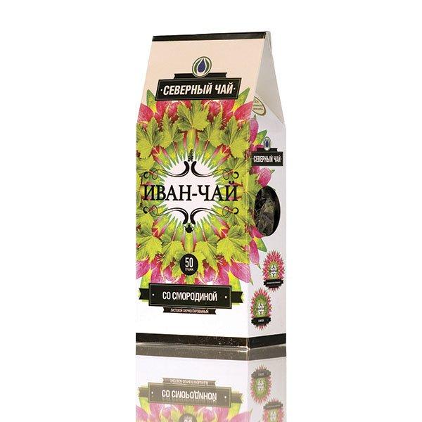 """Иван-чай """"Северный чай"""" ферментированный со смородиной, 50 г"""