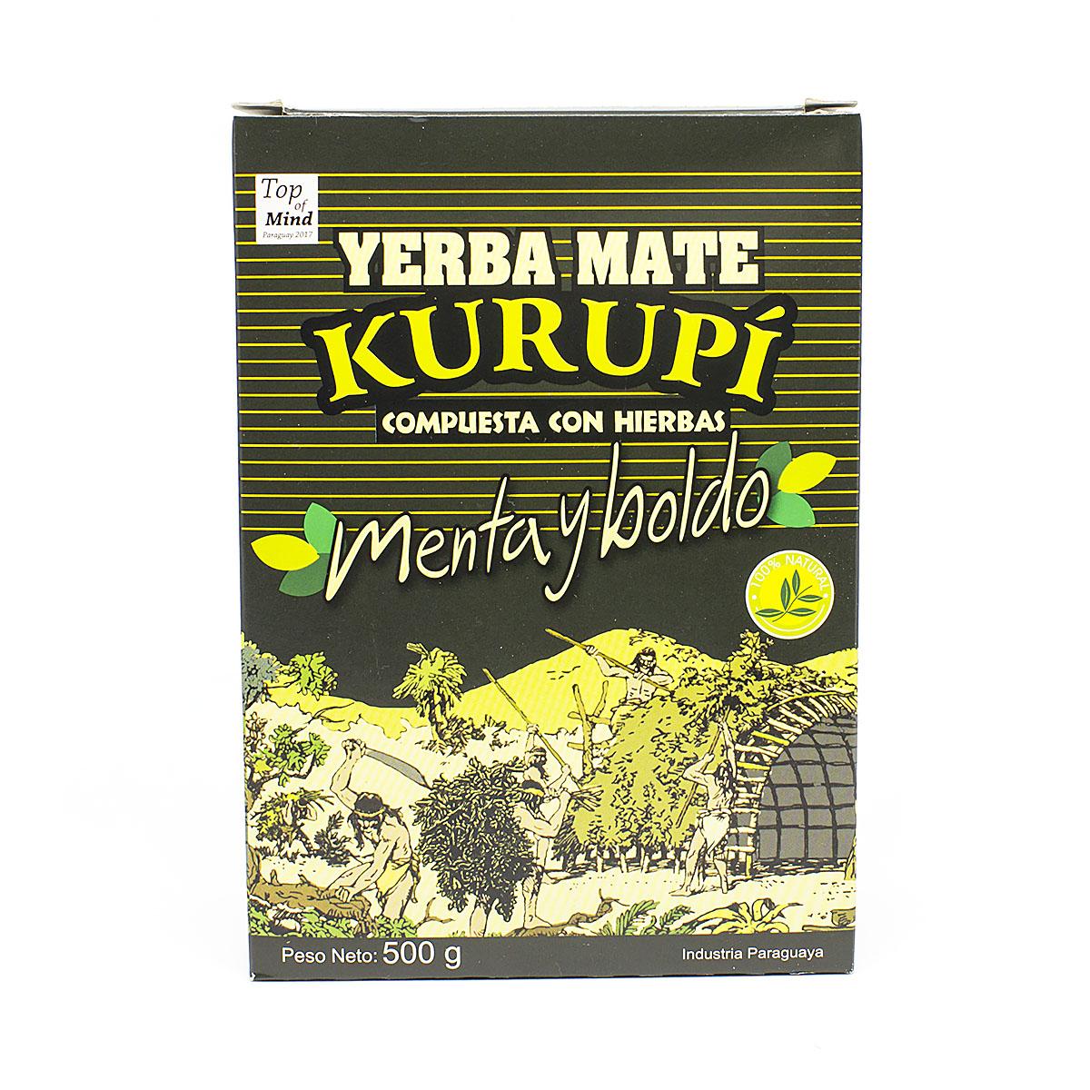 Мате Kurupi Compuesta Menta y Boldo, 500 г мате colon menta boldo 500 г