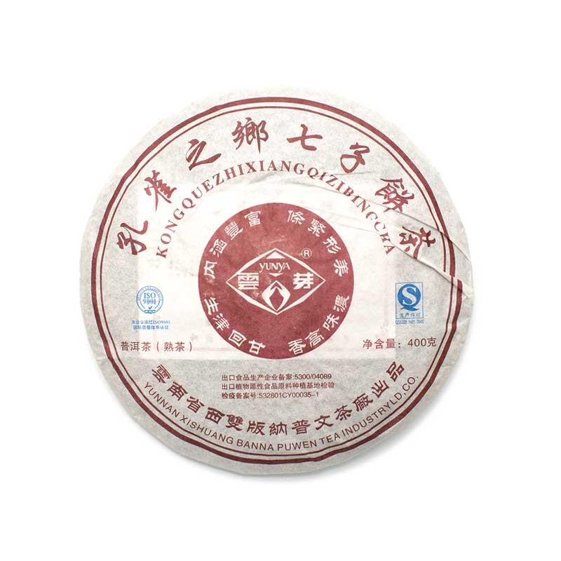 """Шу пуэр Пу вэнь """"Кун цюэ чжи сян"""", 2015 г, блин 400 гр."""
